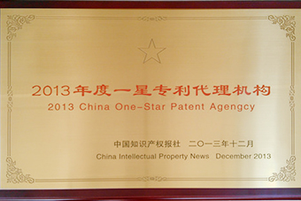 2013 One Star Patent Agency Medal